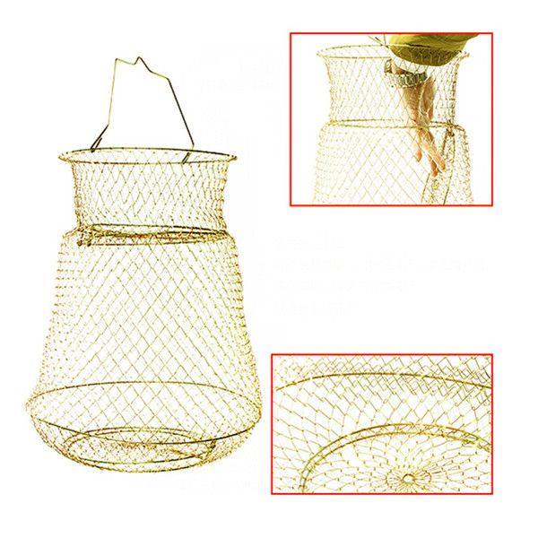 Hot Fish Lobster Collapsible Portable Mesh Fishing Net font b Crab b font Prawn Cage Foldable